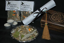 HOME CLEANSING SMUDGING Spell Kit White Sage Rosemary Bay Leaf Palo Santo Etc