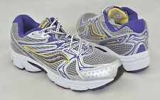 Saucony 'Cohesion 6' Girl's Purple/Grey Leather/Mesh Running Shoe Size 6M 38.5EU