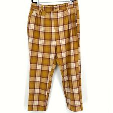 American Eagle Outfitters Plaid Tapered Leg Trouser Pants Multi Women's Size 14