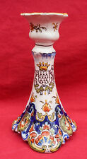 FOURMAINTRAUX DESVRES French Hand Painted Faience Candlestick 1880