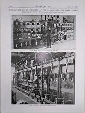 3000 KW DC Switchboard: Barrow Hermatite Steel: 1908 Engineering Magazine Print
