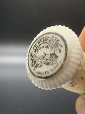 New listing Rare Antique Buffalo brewing co Porclain Backbar Bottle Stopper Sacramento Ca