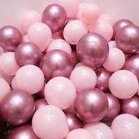 "10-50 PEARL LATEX METALLIC CHROME BALLOONS 10"" Helium Birthday Baloons Balons"