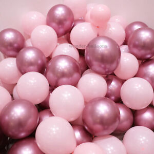 "10-50 PEARL LATEX METALLIC CHROME BALLOONS 10"" Helium Birthday Baloons Balons"