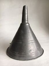 Antique pewter funnel, unmarked, 18th or late 17th century