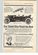 1912 Papier AD National 40 Auto in Timken Lager & Achsen Canton Detroit