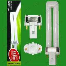 9W G23 2 Pin Bajo Consumo De Energía Bombilla CFL Pl palo 840, 4000K blanco frío Lámpara