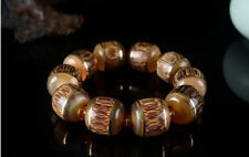 Hand Polished Goat Horn Beads Hand Made Yellow Women's & Men's Bracelet T22
