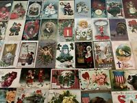 Nice~Lot of 50~Vintage Postcards~Christmas~Valentine~Thanksgiving-etc--a690