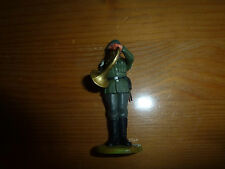 Petit soldat en plastique, allemand / Wehrmacht fanfare trombone, WW2, Elastolin