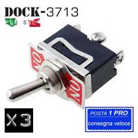 A140. Interruttore deviatore leva unipolare ON-ON 15A switch levetta 12V 250V