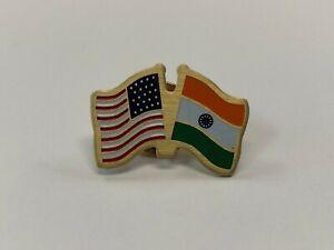 USA / India Flag Lapel Pins - 200 Bulk