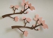 Cherry Blossom Branch Cricut Die Cut Embellishment Handmade Cardstock Set Of 2