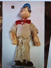 1930's Vintage Woolikin Popeye 17� Statue W/Wooden Base *Extremely Rare*