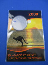 2009 $1SPECIMEN KANGAROO AT SUNSET 'F12 PRIVYMARK' SILVER COIN. SUPERB !!!