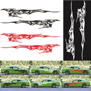 2pcs DIY Car Styling Stickers Auto Both Side Body Fire Flame Sticker Vinyl Decal