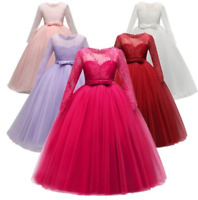 Communion Party Prom Princess Pageant Bridesmaid Wedding Flower Girl Dress ZG8