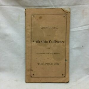 Vintage Book 1862 Methodist Episcopal Church North Ohio Conference