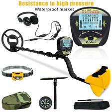 Waterproof Metal Detector Kit Deep Sensitive Gold Digger Hunter Lcd w/Headphone