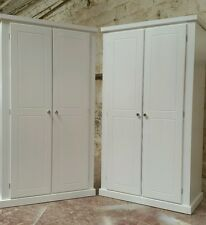 HANDMADE AYLESBURY X2 (WHITE) FULL HANGING WARDROBES (ASSEMBLED) **SPECIAL OFFER
