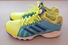adidas Mens Performance Lux Field Hockey Turf Shoes Yellow Blue Sz 8 (AQ6510)