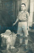 More details for ww2 south wales borderers soldier pith helmet cigarette far east studio photo