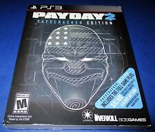 Payday 2 -- Safecracker Edition Sony PlayStation 3 *Factory Sealed! *Free Ship!