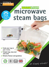 Microwave Steam Steamer Bags 25cm x25cm Pack 25 Healthy Cooking By Toastabags