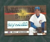 2003 Legends of Summer autographed baseball card Billy Williams Chicago Cubs