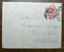 1916 KGV Cover to Mr Phipps, Coronation Cottage, Devenham, Northwich