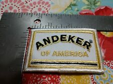 "P ANDEKER OF AMERICA BEER PATCH OR CAP JACKET OR UNIFORM 3"" x 2 """