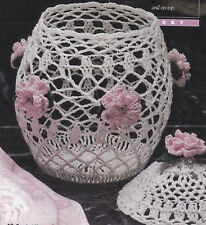 Crochet Pattern ~ ORIENTAL LACE GINGER JAR ~ Instructions
