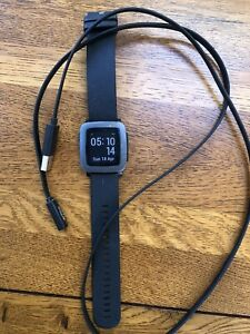Pebble Time smart watch (in full working order)