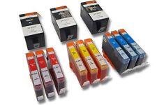 12x CARTUCHO + CHIP para HP Officejet-Serie: 6500 A Plus / 7000
