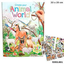Stickerbuch Tierwelt Beschäftigungsbuch Tiersticker 217 Stickern Animalworld
