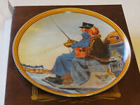 Norman Rockwell's Colonials The Journey Home collector plate 15625B 1987 #%