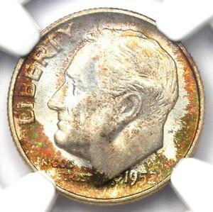 1952-S Roosevelt Dime 10C - Certified NGC MS68 FT - Rare MS68 FB - $900 Value!