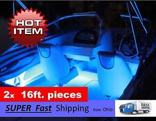Beautiful BLUE boat light kit - - 2pcs / 16ft. each -- LED's - 32ft. TOTAL 12vDC