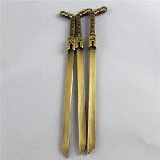 4pcs Antique Bronze Alloy Sword Shank Bookmark Pendants Jewelry 100*11*3mm 39354