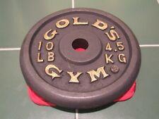 "GOLD's GYM 10lb/4.5KG Iron 8"" Diameter Circular Weight  Plate/1.18"" dia Center"