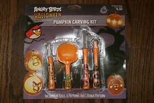 Angry Birds Pumpkin Carving Kit Halloween 4 Tools 6 Patterns 1 Bonus Pattern