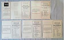 PERU lot 5 postal stamp issue advertising sheet 1969 contemporaneous philatelic
