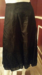 *NEW* CHICO'S BLACK 100% SILK 100%  A-LINE SKIRT COCKTAIL CASUAL  Rt $128