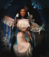 Barbie Disney Mattel Dolls Feathers i.the wind Pocahontas a.Indian Sammlung NRFB