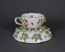 Meissen plástica flores prunktasse taza de café ut taza Coffee Cup Porcelain
