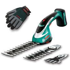 Bosch Akku Strauch- und Grasscheren Set ASB 10,8 LI + Handschuhe und Koffer