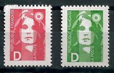 France 1991 Marianne lettre D Yvert n° 2711 et 2712 neuf ** 1er choix
