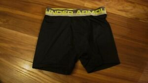 UNDER ARMOUR BLACK NEON BAND COMPRESSION SHORTS YOUTH MEDIUM