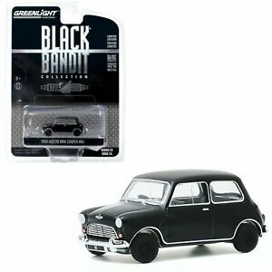 1/64 Greenlight 1960 Austin Mini Cooper MK1 Black Bandit Collection Neuf