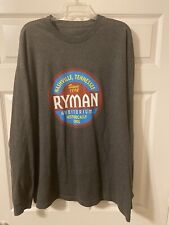 Ryman Auditorium (Long Sleeve T-Shirt) One Sided. Grey. Xxl. Official Item!